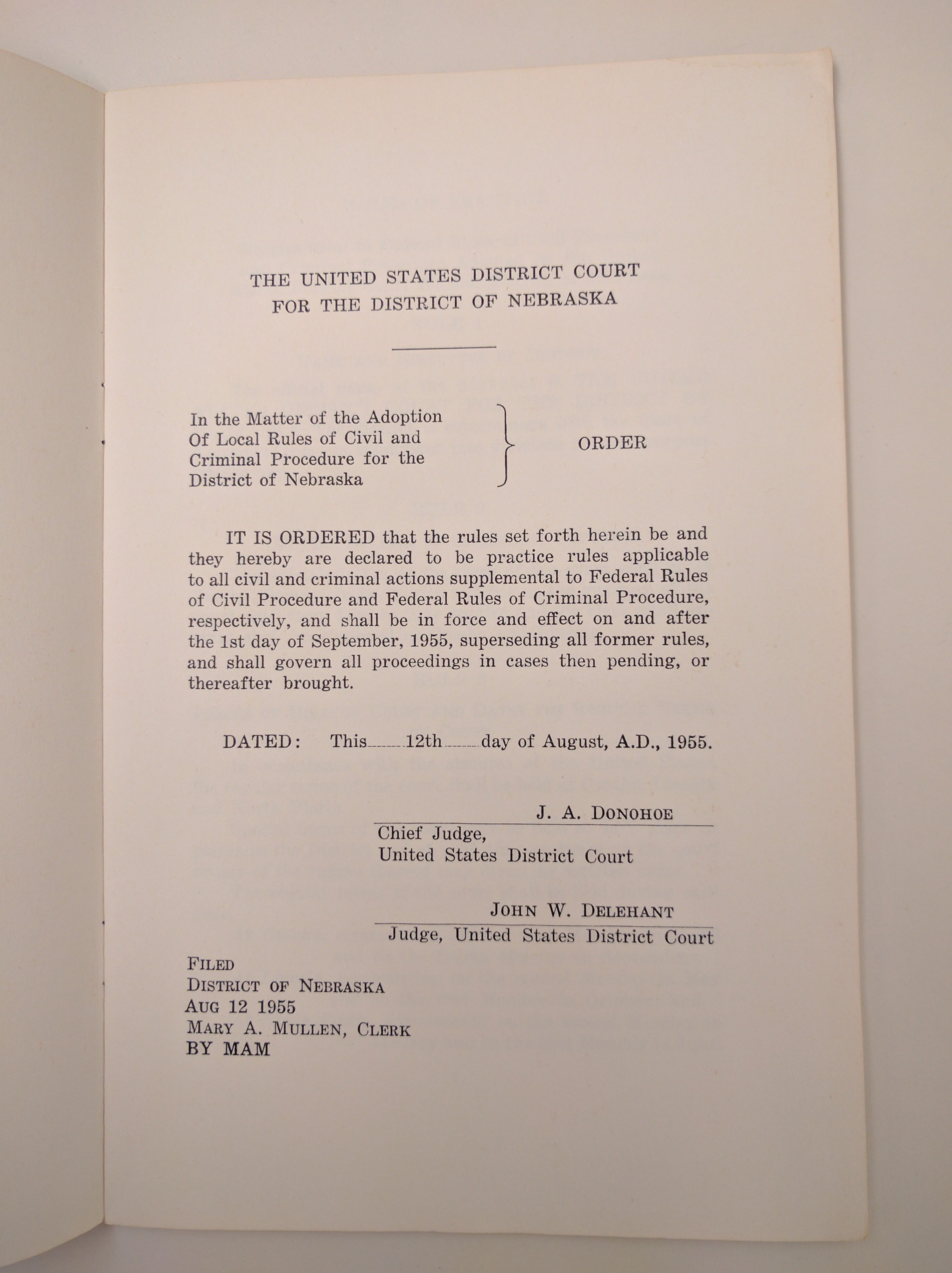 US District Of Nebraska Historic Book Collection - Is nebraska in the united states